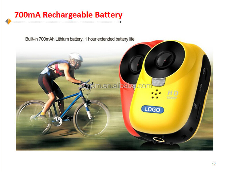 2015 new mini video wifi waterproof full hd 1080p sports camera