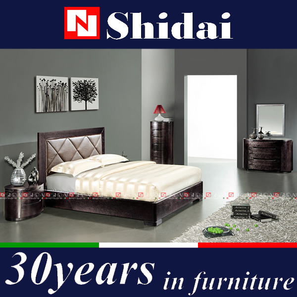 double bed with storage / teak wood beds models / bed base B510L