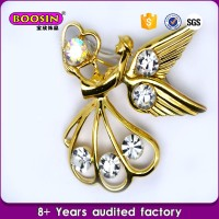 factory price Custom jewelry silver and gold angel brooch wing pins