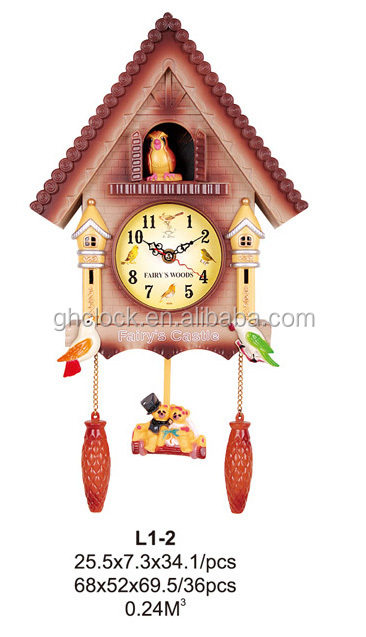 2015 Hot-selling Decorative cuckoo wall clock for home decoration(L1)