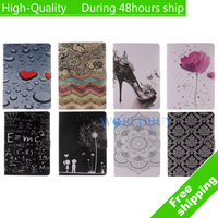 For Apple iPad Mini 4 Case Flip leather Stand Ultra-Thin Slim Cover Luxury Colorful Cartoon Smart Case Free shipping