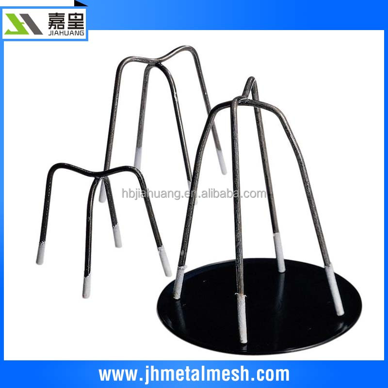 Reinforcing steel bar supports concrete rebar wire spacer