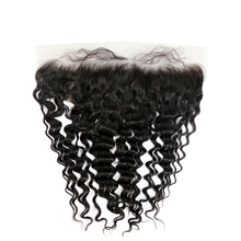 Top Quality Virgin Hair 13 X 6 Clear Brazilian Deep Wave Super Fine Raw Swiss Lace Frontal