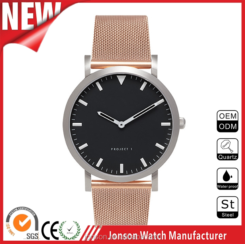 2016 minimalist simple men watches japan movt bell and rose quartz watches