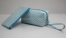 Canvas cosmetic fashion bags with PVC laminated