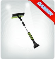 Multi-functional Snow Shovel Car Cleaning Tool Alluminium Soft Grip Telescopic Handle Brush
