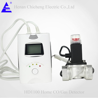 CE APPROVED House/Hotel/Restaurant Usage LNG Gas Leak Alarm detector with Shut-off Valve, support emergency call function