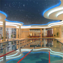 swimming pool chandelier light ,smart pool deco with underground fiber optic cable in the water