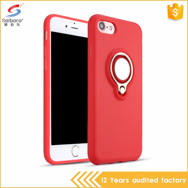 Best quality ring bracket with magnet phone case for iphone 6 plus