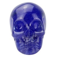 blue obsidian 1.5 inch mini skull head gift for kids