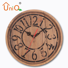 14inch Antique Printing Decorative Wall Wooden Clock