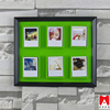 China direct manfacturer beautiful printing Plastic wall hanging led backlit picture frame