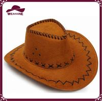 100% high visibility security reflective hat brown cowgirl hats
