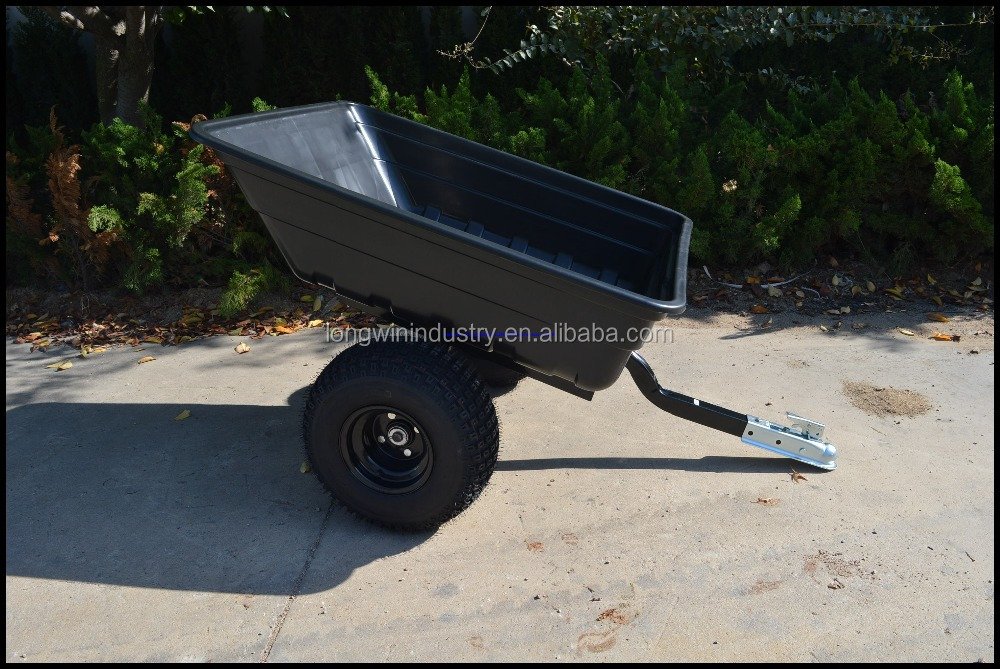 heavy duty garden dump cart / Lawn mower trailer / ATV dump trailier