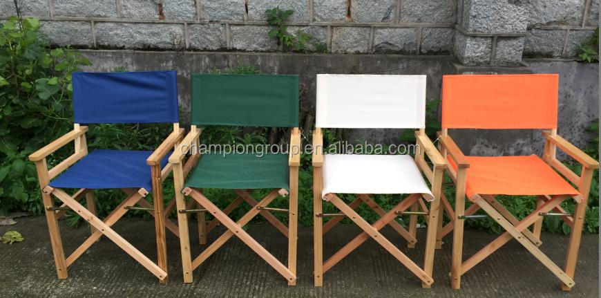 wooden director chair in colorful