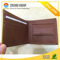 Top Layer Genuine Cow Leather RFID Blocking Purse for Credit Card