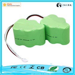 Factory direct sale SC 6V 3500mah nimh rechargeable battery pack for vacuum cleanner