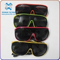 halloween Magical Plastic EL Wire Shutter Shades 50th Birthday Party Glasses , el wire sunglasses