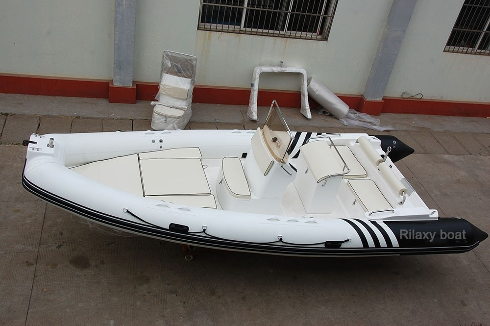 Rilaxy 6.8m 22ft RIB Hypalon Inflatable Boat with Custom Design
