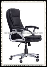 hi-Back Leather Executive Task Chair for Office or Computer Desk, Black