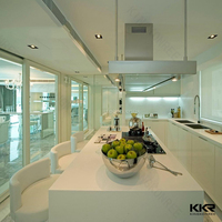 expoxy resin crystal white precut kitchen countertop