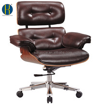 Boss Button Tufted Brown Leather High-Back Executive Chair