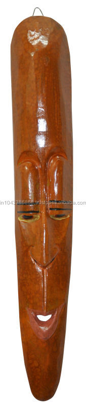 Antique Vintage African Tribal Wood Hand Carved Face Mask Sculpture Wooden
