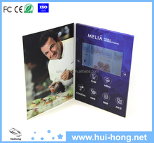 A4 format 7 inch tft/lcd screen festival video greeting cards