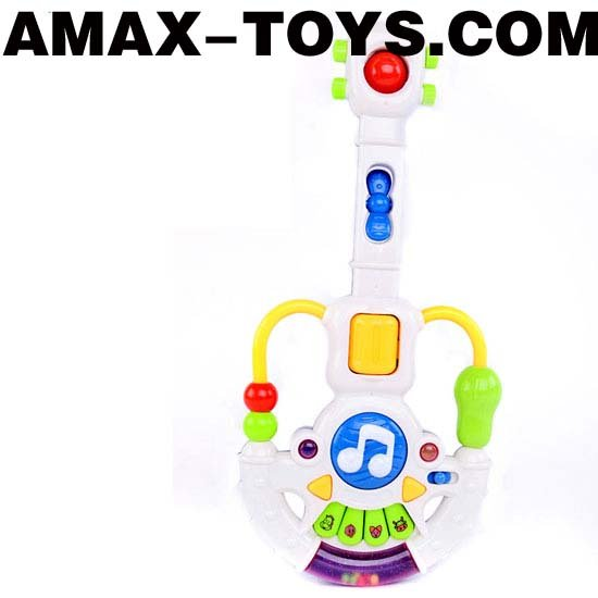 bte-0224477 Toys guitar Children multifunctional cartoon electronic guitar with music and light