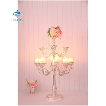 Fine design multi crystal candelabra votive holder candle holders
