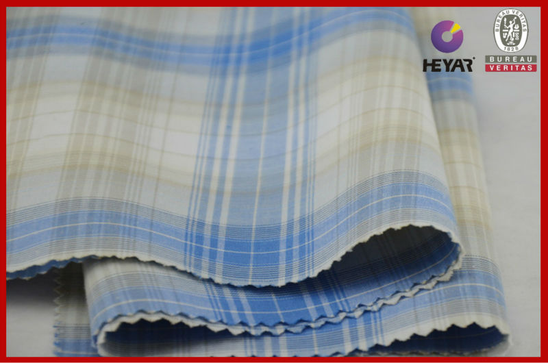 Pin Check Fabric 100 Cotton Yarn Dyed Woven Fabric