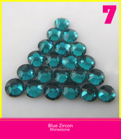 DMC Hot Fix Stone Blue Zircon / Wholesale Crystal Stone More Than 50 Colors in Bulk