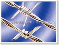 HIGH LEVEL SECURITY BARBED WIRE FOR WIRE MESH FENCING