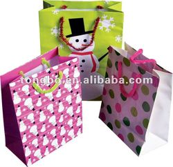 Eco-friendly Custom Logo Printed Christmas Gift Paper Bag