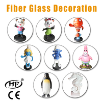 Animation Fiber glass decorations or attractions for kids amusement park game center,indoor playground, super mall