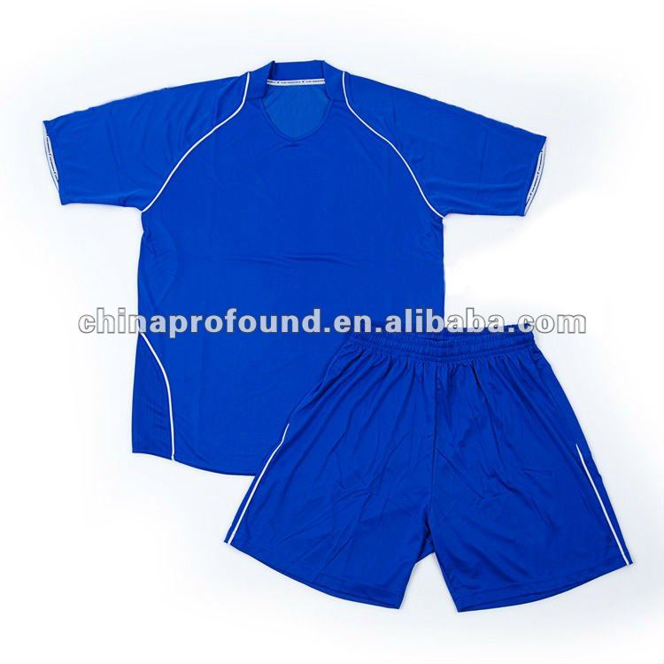 OEM blank plain football shirt soccer jersey training sport suit wholesale in china