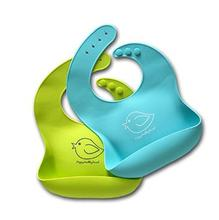 Waterproof Silicone Bib Easily Wipes Clean! Comfortable Soft Baby Bibs Keep Stains Off! Spend Less Time Cleaning