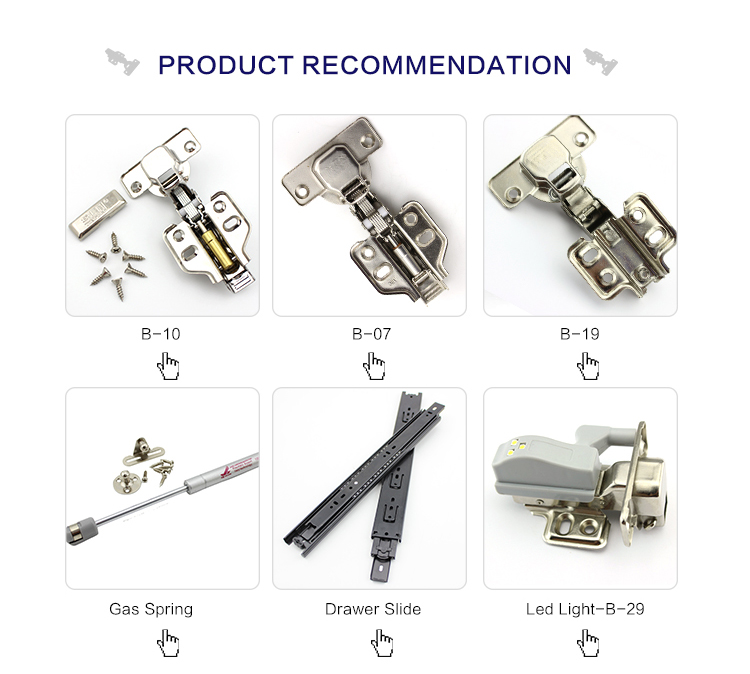 furniture hardware adjustable kitchen cabinet hydraulic stainless steel hinge soft close hinges with led light
