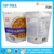High grade SGS approval laminated zipper foil food grade stand up pouches