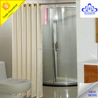 Hotel using luxury polyester fabric hookless shower curtain