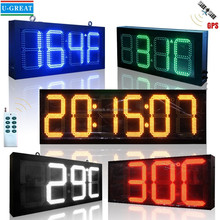 RF / GPS Control Red / Green / Blue / Yellow / White Color LED Time and Temperature Display / Sign