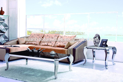 European style stainless steel leg modern high gloss coffee table CT032