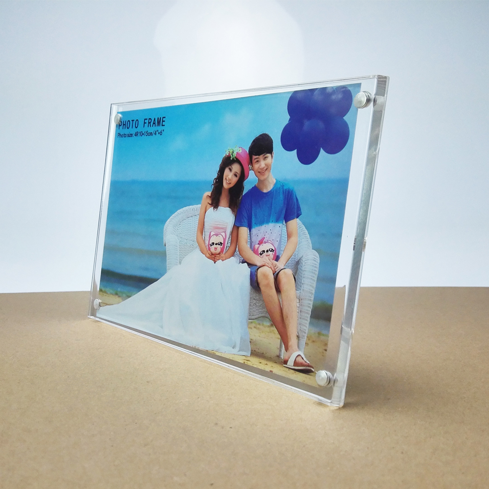 4x6'' Acrylic magnetic photo frame picture frame
