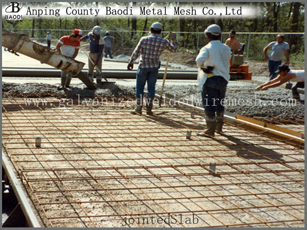 Rebar reinforcing concrete welded wire mesh panel