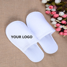 Wholesale hotel <strong>slippers</strong> White cotton fabric hotel