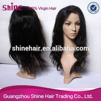 Fashion style top quality real human hair wet and wavy cheap lace front wig
