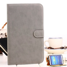 Blank plain leather tablet case for samsung galaxy tab 3 8.0