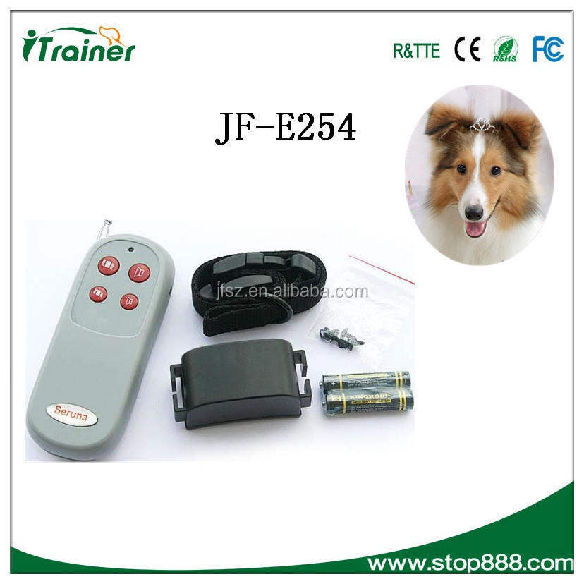 300meters Remote Electric Anti-bark Pet Dog Training Collar with LCD display E254