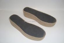 GCES003 materia prima de yute yute suela del zapato de suela yute alpargata alpargatas
