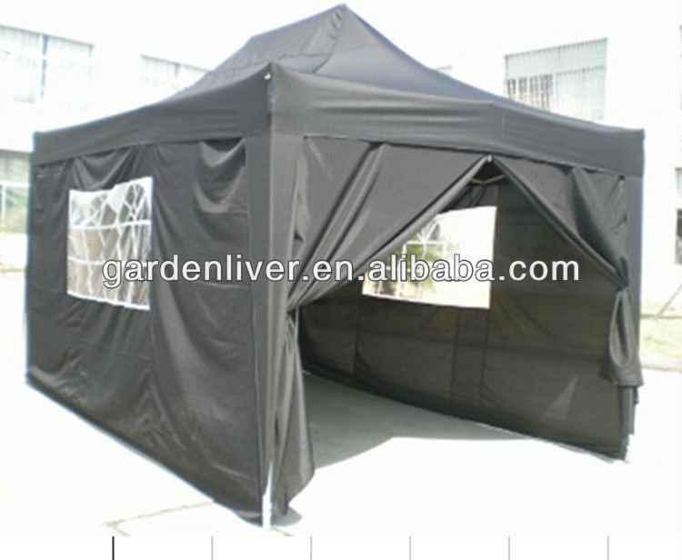 Easy up folding gazebo,polyester pop up gazebo 3*4.5
